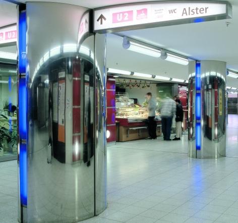 S- und U- Bahnhof Jungfernstieg Hamburg (DE)