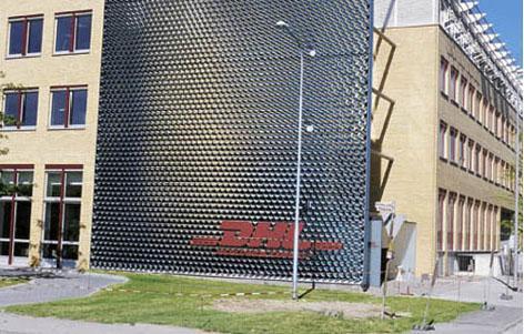 Edelstahlrohrskulptur DHL, Langen - Monza Park (DE)